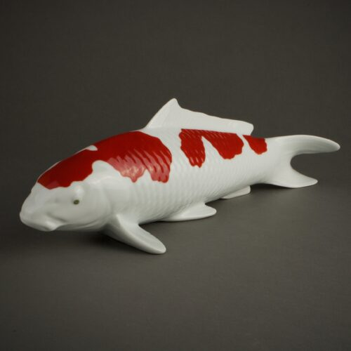 japanese-sculpture-koi-carp-porcelain