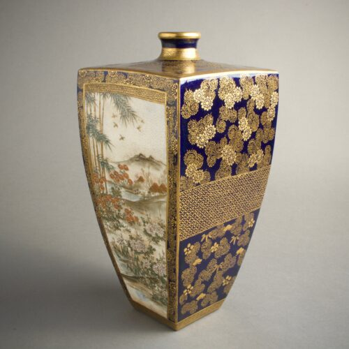 japanese-vase-satsuma-rectangular-signed-kozan